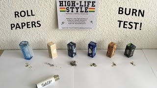 Rolls Papers Burn Test - Raw, OCB, Smoking, Rips, Juicy Jay and Elements! (HighLifeTV)