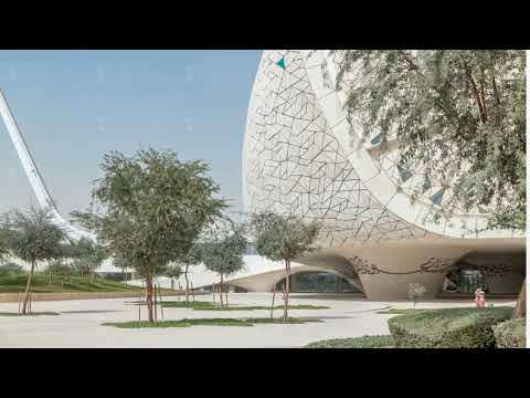 View of the Education City Complex timelapse launched by the Qatar Foundation in