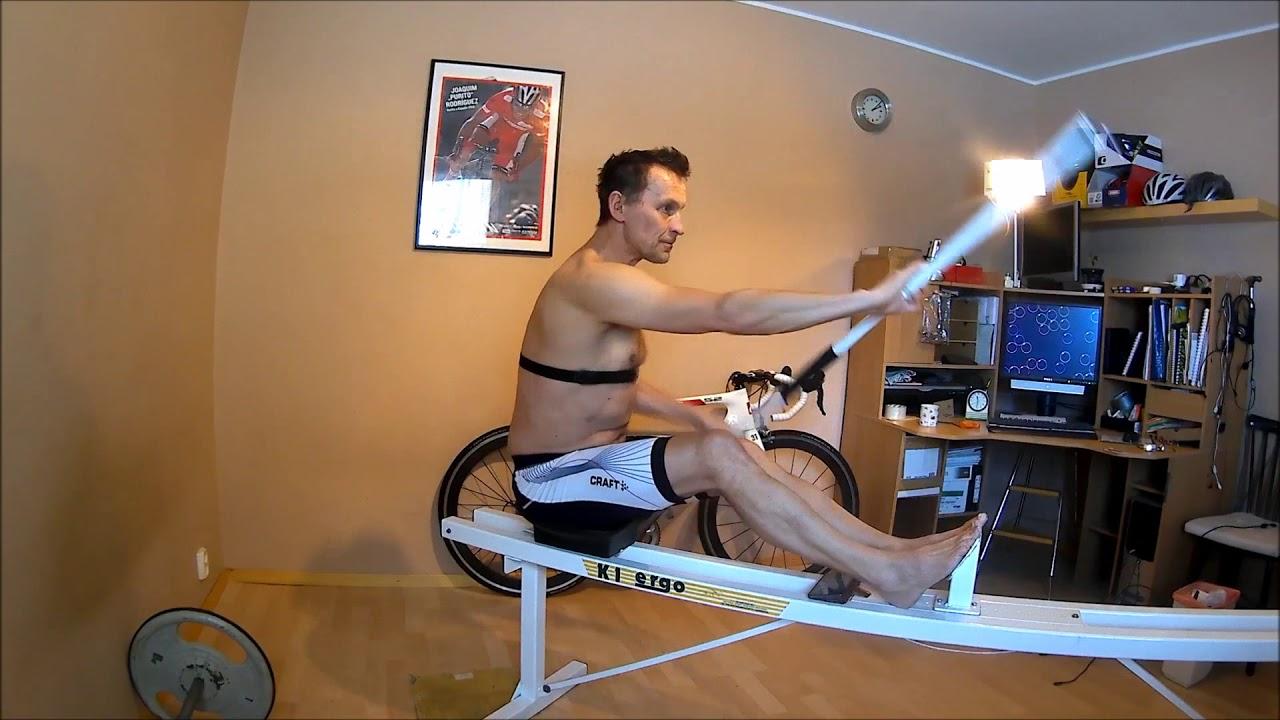 Kayak ergometer workout
