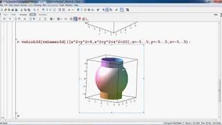 [Maple][Gói vẽ hình] Vẽ đồ thị hàm ẩn F(x,y,z)=0 trong không gian