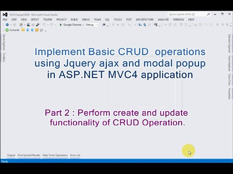 Part 2 - Basic CRUD operations using Jquery ajax and modal popup in ASP.NET MVC4.