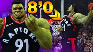 8 Foot 400 Pound HULK GAME BREAKING THROW DUNK In NBA 2K20?! NEW Slam Dunk CHAMPION!