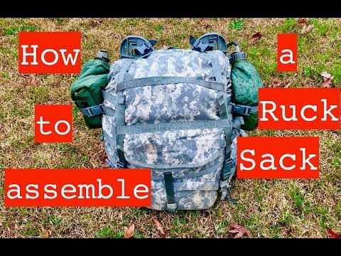Army Rucksack Assembly (How To Assemble A Rucksack)