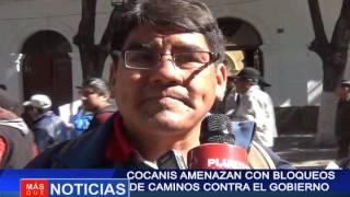 Cocanis amenazan con bloqueos de caminos contra el gobierno