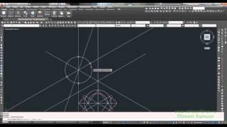 Как построить (начертить) окружность (круг) в прямоугольной изометрии 2 способ