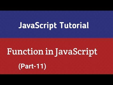 JavaScript Tutorial In Hindi   Function In JavaScript (Part-11) thumbnail