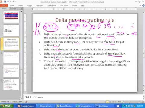 Procedure to form delta neutral option strategy