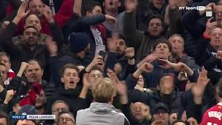 Who is Klopp waving at? Liverpool players celebrate with fans at The Etihad