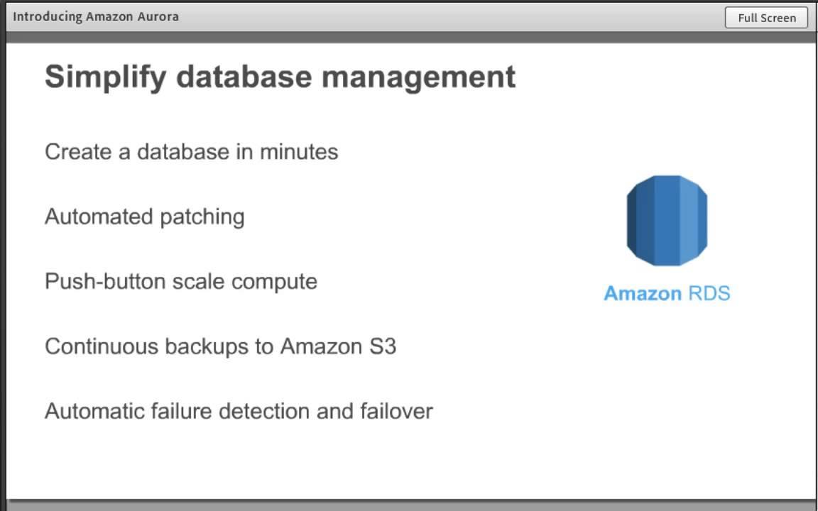 AWS August Webinar Series - Intro  Amazon Aurora : A New MySQL Compatible  Database