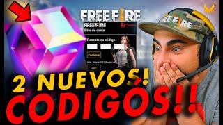 2 NUEVOS CÓDIGOS DE FREE FIRE OFICIALES!!