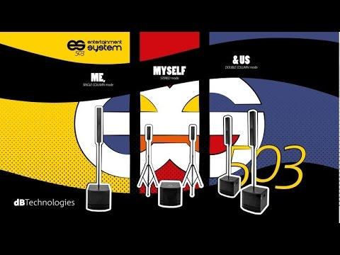 Système Triphonique ES503 DB TECHNOLOGIE Bluetooth USB 1000W vidéo