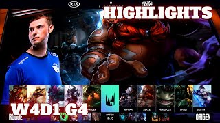 (Highlights) Rogue vs Origen | Week 4 Day 1 S10 LEC Summer 2020 | RGE vs OG W4D1