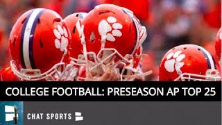 AP Poll: College Football Preseason Top 25 Rankings