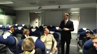 Ansagen-Training für Flugbegleiter