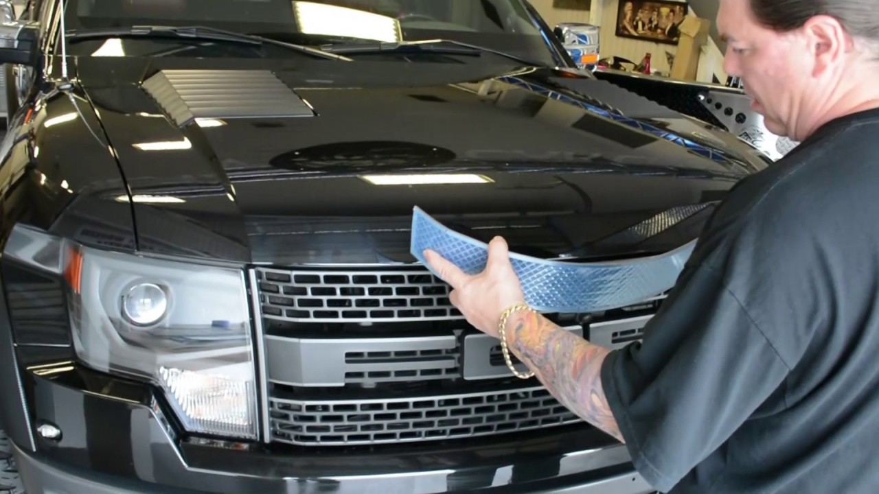 2010-2014 Ford Raptor Diamond Mesh Front Grille Overlay ...