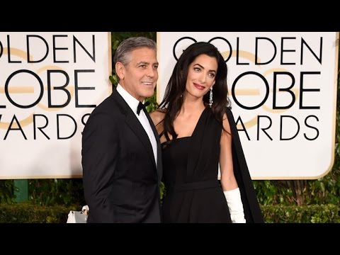 George & Amal Clooney Speak Out Against Paris Terrorist Attacks at 2015 Golden Globes