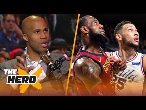 Richard Jefferson talks LeBron vs Ben Simmons, Cavs struggles, NBA ROY and Westbrook   THE HERD