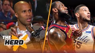 Richard Jefferson talks LeBron vs Ben Simmons, Cavs struggles, NBA ROY and Westbrook | THE HERD