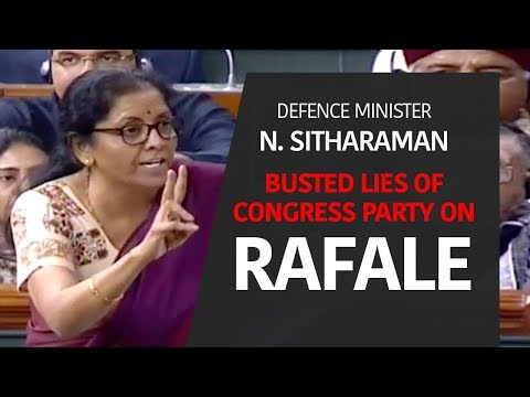 RM Smt Nirmala Sitharaman on issues relating Rafale Deal raised by MP Rahul Gandhi on Jan 2, 2019.