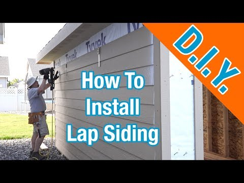 Install LP Smartside Siding On A Shed: How To Build A Shed ep 17