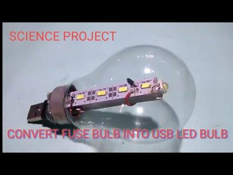 New idea Convert 100W fuse bulb into USB led bulb ||Energy Saving