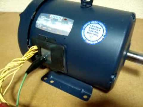 hqdefault leeson 3hp g130008 00 motor wmv youtube leeson ac gearmotor wiring diagram at n-0.co