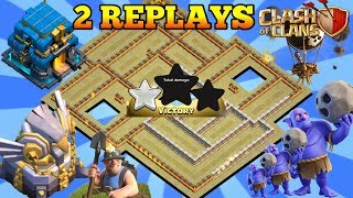NEW TH12 WAR BASE 2018 ANTI 2 STAR With 2 Replays Anti Everything BoWitch,Miner,Anti Queen Walk