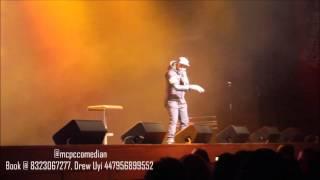 MCPC Comedian at I Go Die show O2 Indigo London