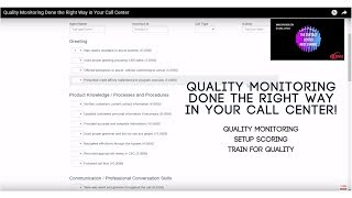 Quality Monitoring Done the Right Way in Your Call Center