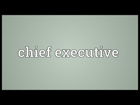Chief executive Meaning