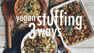 Vegan Stuffing 3 Ways | Hot For Food