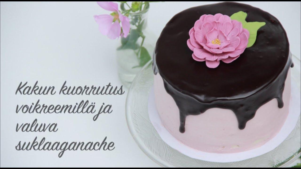 suklaaganache kakku