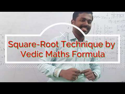 How To Calculate Square-root Quickly? Vedic Maths  - Santosh Sir
