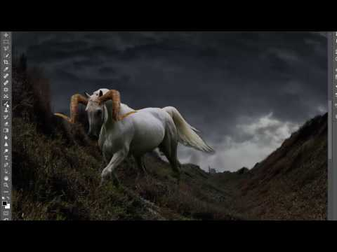 "speed art,photoshop ""Caballo de fuego"""