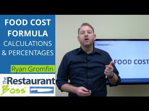 how to work out food cost percentage