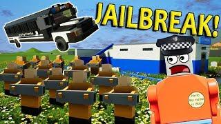 LEGO JAILBREAK POLICE CHALLENGE! - Brick Rigs Multiplayer Challenge Gameplay - Lego Cops & Robbers