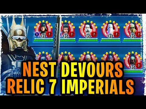 EMPIRE SUCKS IN SWGOH! Nest Devours Relic 7 Imperial Troopers! Relic 7 Gary Spotted!
