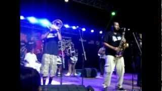 Stooges Brass Band performing in The Rock musicarium (PAKISTAN)