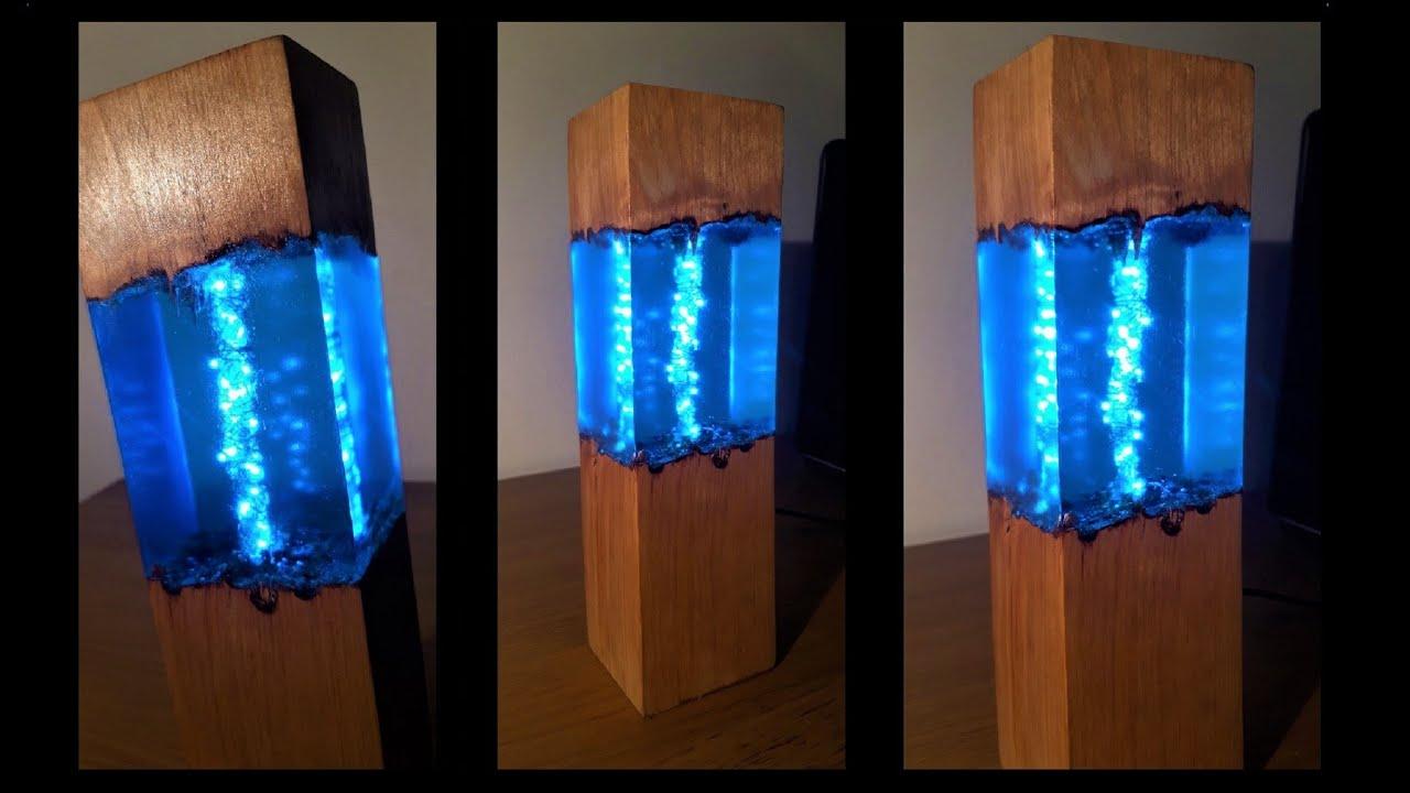 Epoxy Wood Lamp