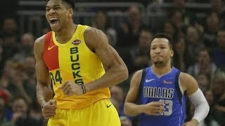 Giannis Dunks on Luka Doncic! Luka Triple Double! 2018-19 NBA Season