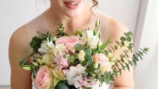 Букет невесты с ароматом гиацинтов и эвкалипта