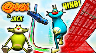 "Oggy & Jack in ""BIG RAMPI"" GTA RACE   GTA 5 Hindi Funny Moments"