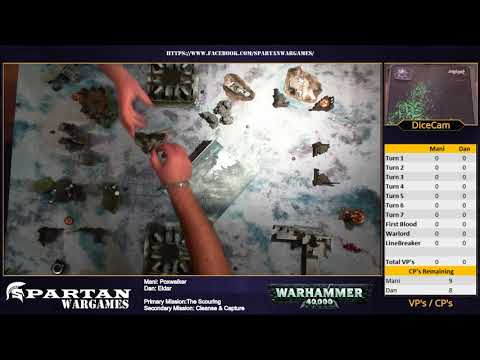 Warhammer 40k - Eldar vs Poxwalkers - Competitive Live Battle Report