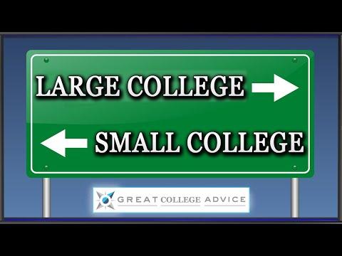 College Match:  Large vs Small Universities