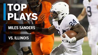 Top Plays: Miles Sanders  vs. Illinois Fighting Illini | Big Ten Football