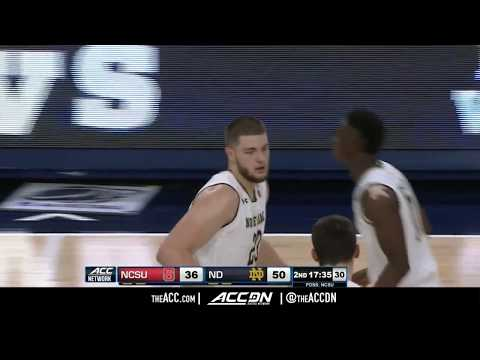 North Carolina State vs Notre Dame College Basketball Condensed Game 2017