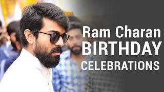 Ram Charan Birthday Celebrations 2017 Sai Dharam Tej & Allu Aravind Celebrate Ram Charan Birthday