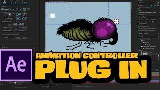 Insekten-Spaziergang-Zyklus mit joysticks n' regler ae-plug-in - ai2ae - kurze animierte Fortschritt