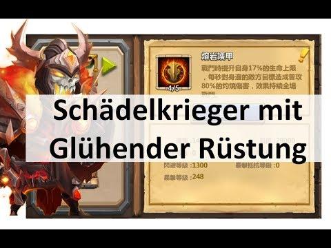CC #156 Schädelkrieger mit Glühender Rüstung [Krit Chance] by Hunted Castle Clash | Schloss Konflikt
