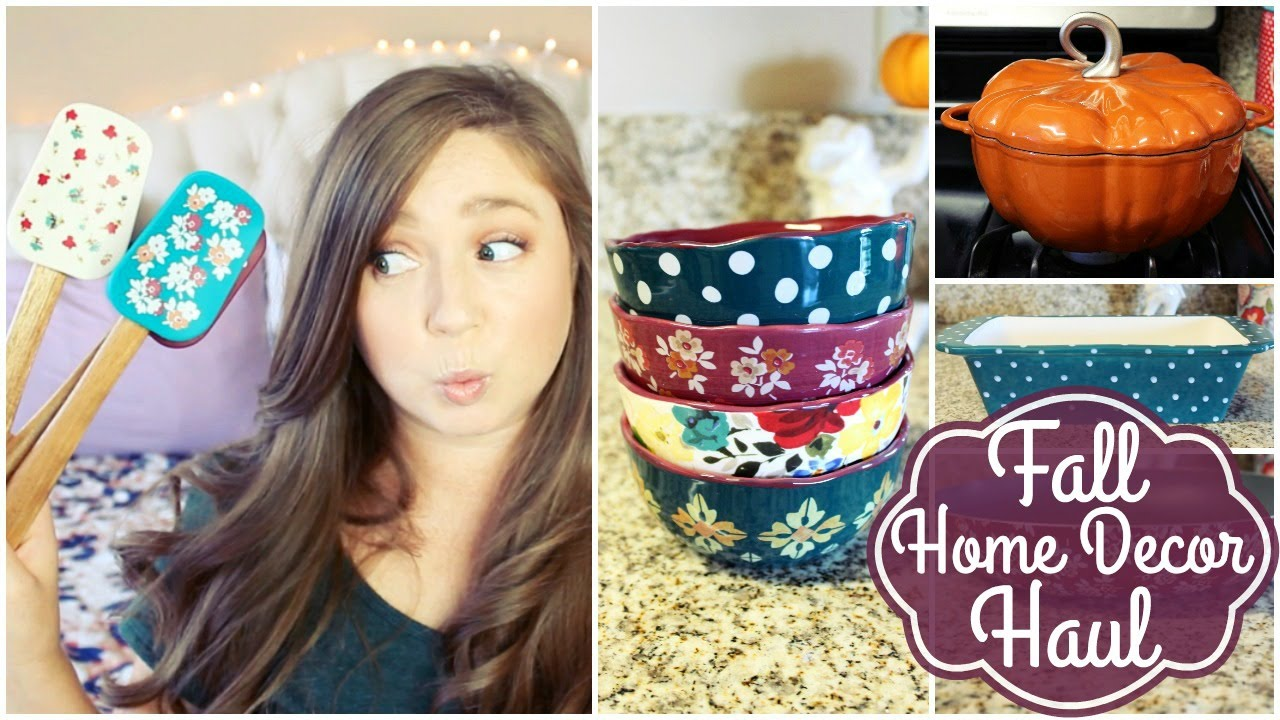 Woman Home Decorating fall home decor haul! pioneer woman 2016🎃 - youtube